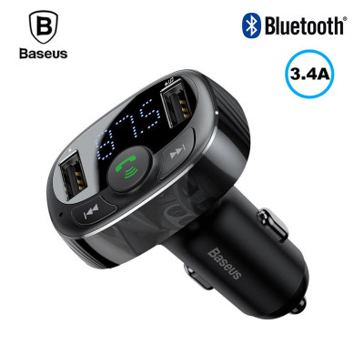 FM-модулятор Baseus S-09, Bluetooth, 2 USB. AUX