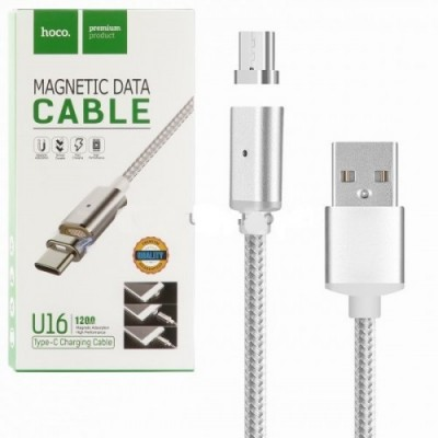 Кабель USB для Apple 8 pin HOCO Magnetic Adsorption U16, 1,2м, 2.4A, НА МАГНИТЕ