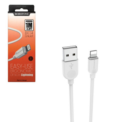 Кабель USB для Apple 8 pin Borofone BX14, 1.0м